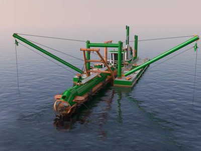 Dredge Yard cutter suction dredger 550