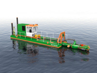 Dredge yard cutter suction dredger eco200