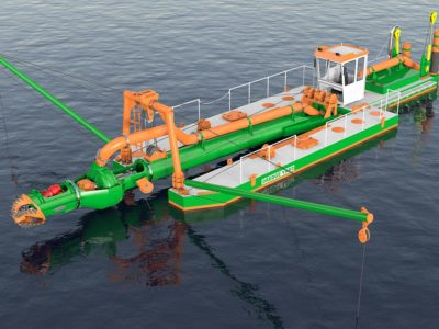3D design ECO350 dredger