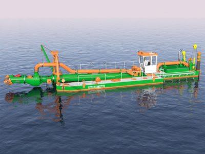 3D design ECO350 dredger