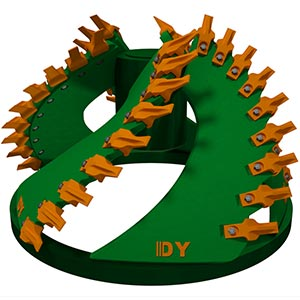 dredge yard cutter head