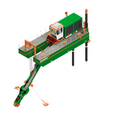 ECO350 Cutter Dredger - Dredge Yard