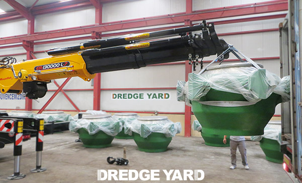 Dredge ball joints 1000 And 900 delivered bij Dredge Yard to MEDCO in Qatar