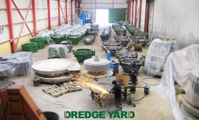 Customized dredging components supplied by Dredge Yard to Bahrain
