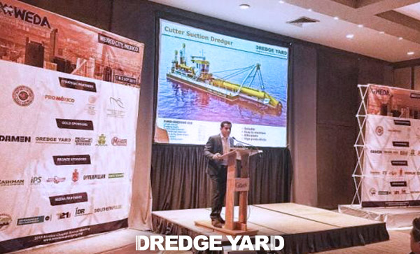 Dredge Yard presents latest developments at WEDA Mexico 2015