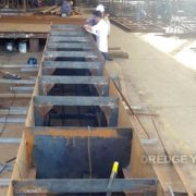 Dredger 200 Pontoon welding