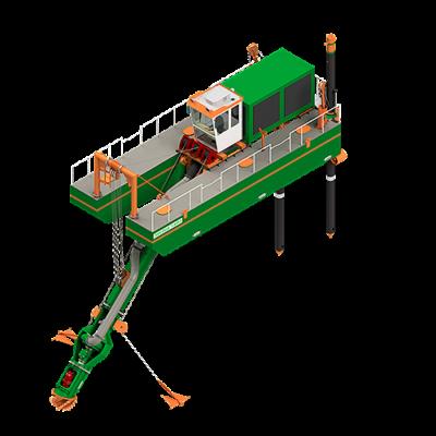ECO350 Cutter Dredger - Dredge Yard