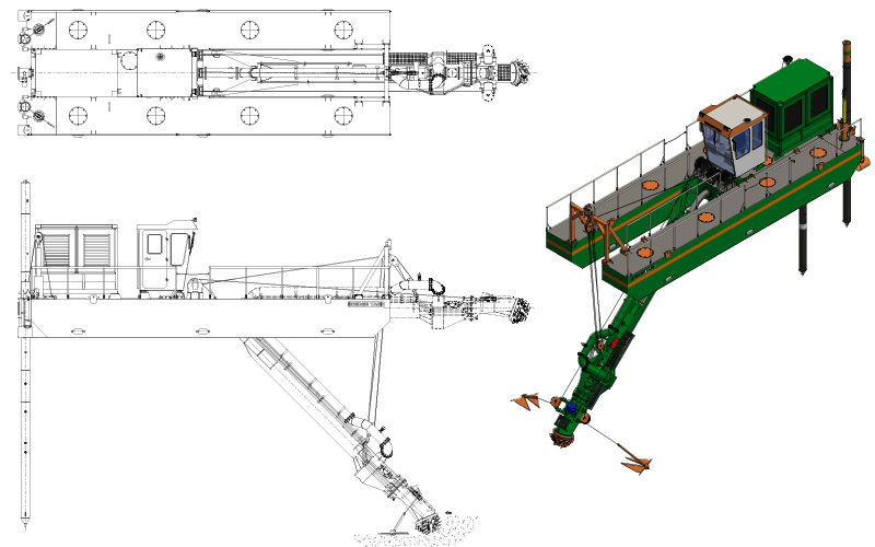 Cutter Suction Dredger 250 - General Arrangement
