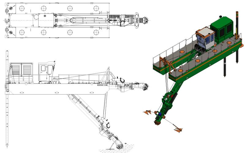 ECO 250 Cutter Suction Dredger - General Arrangement - Dredge Yard
