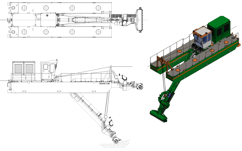 Auger Dredger 300 - General Arrangement