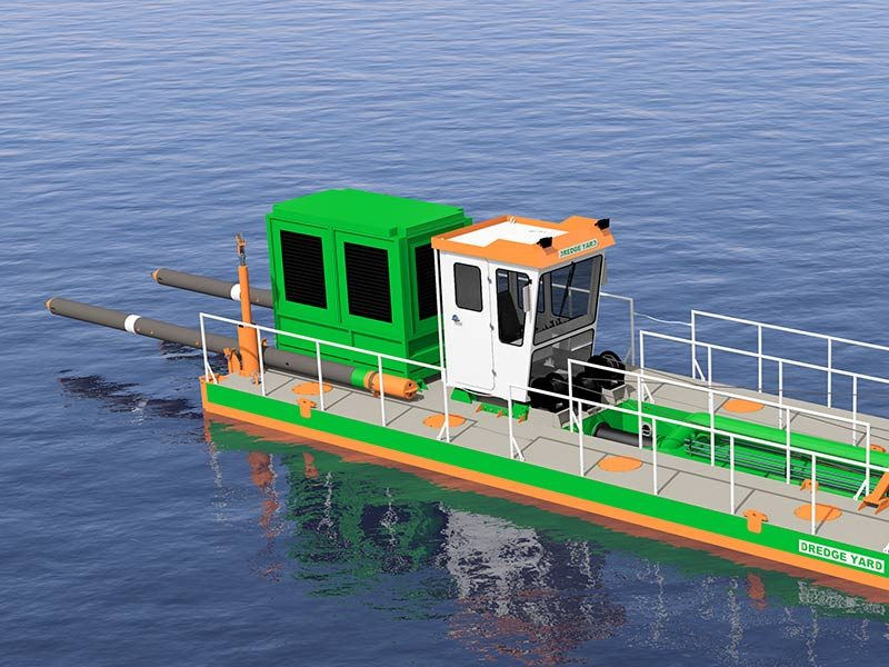 ECO 250 Cutter Suction Dredger with tilted spuds - Dredge Yard