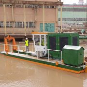 Auger Dredger ECO 200 at power plant - Dredge Yard