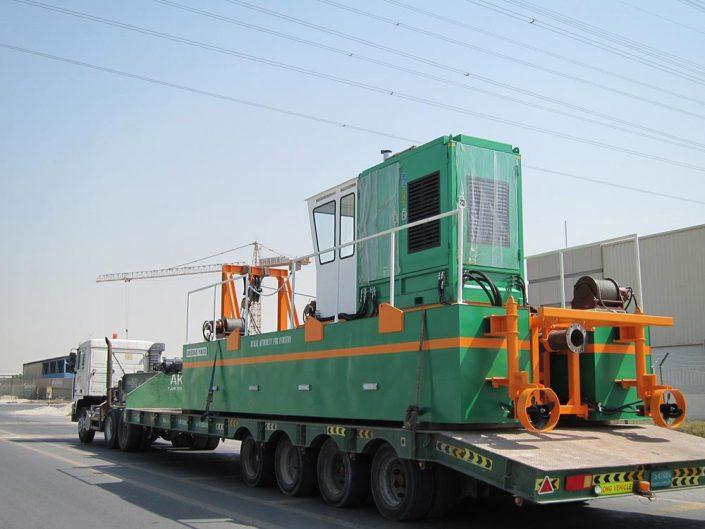 Auger Dredger ECO 200 transport - Dredge Yard