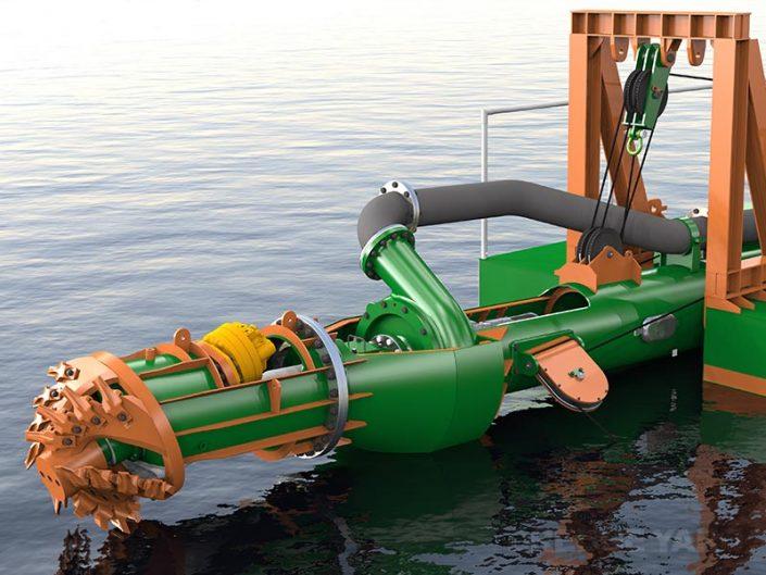 Cutter Suction Dredger 200 submersible pump design