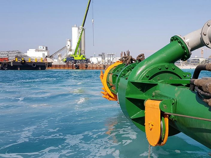 Cutter suction dredger Cutter head component