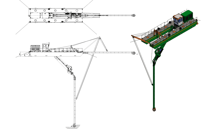 ECO 200 Plain Suction Dredger: general arrangement - Dredge Yard