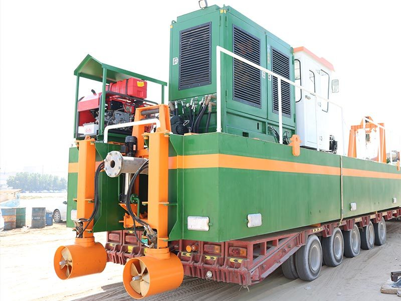 Plain Suction Dredger 200 Transport