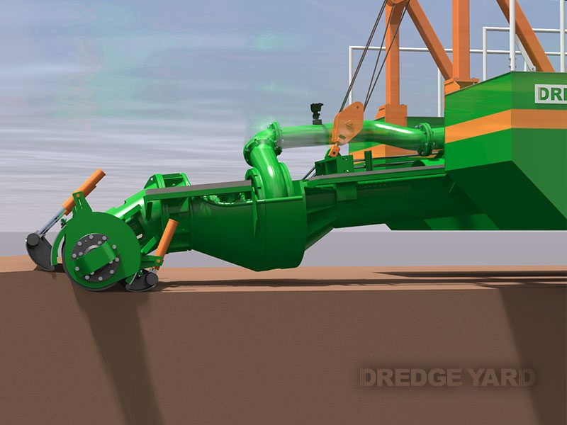 Adaptive auger head in operation - Dredge Yard