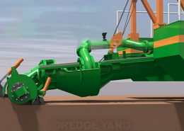Adaptive auger head auger dredger