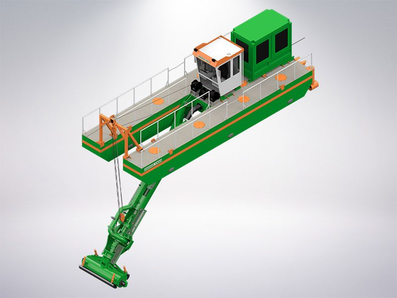 Auger dredger with adaptive auger head