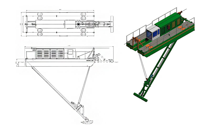 Water injection Dredger ECO 150 Arrangement