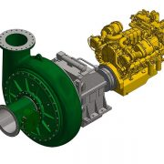 Integrated dredge pump and drive system (CSD 400 & 450)