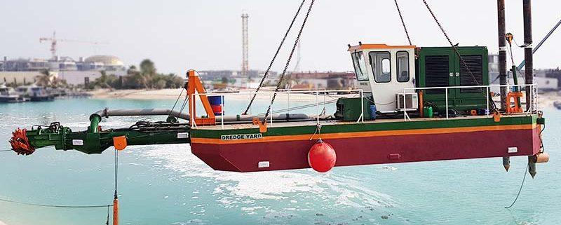 dredger ECO 200 launch by crane