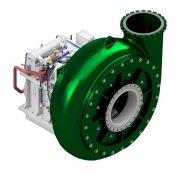 Heavy duty dredge pump with gearbox