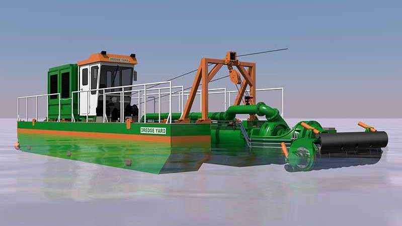 adaptive auger head dredger