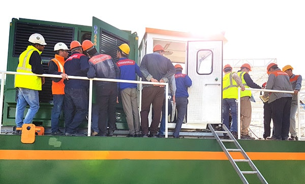Dregde Yard's Auger Dredger Inspection