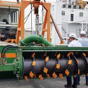 Auger ECO 200 dredger inspection with client