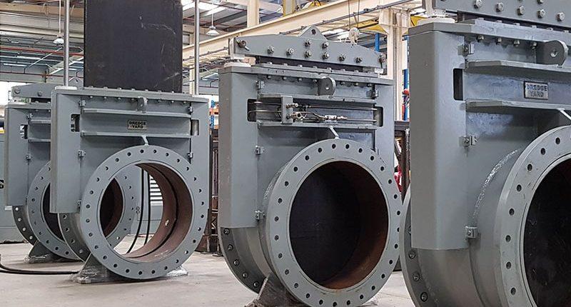 Dredge Valves of 850mm diameter