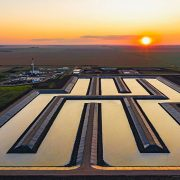 Crystalization pond, Western Potash Corp.