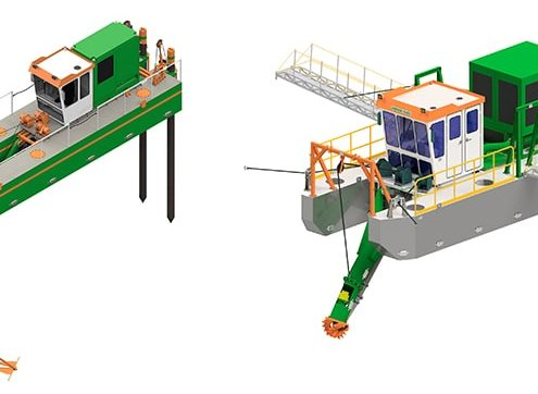 Cutter suction dredger drawing - standard and customized