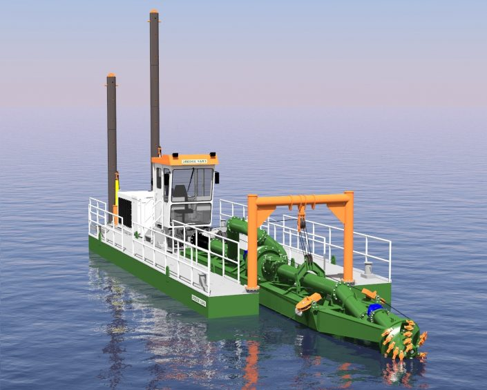 Cutter Suction Dredger ECO 300 in water