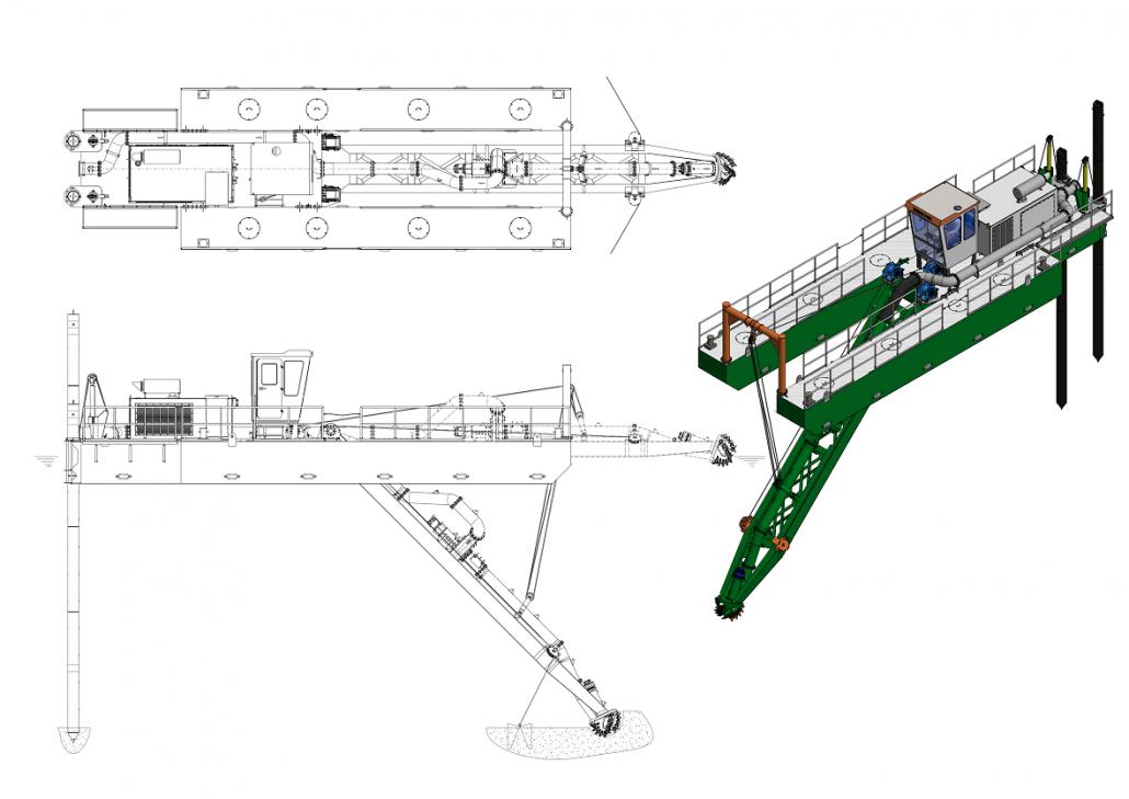 General arrangement ECO dredger