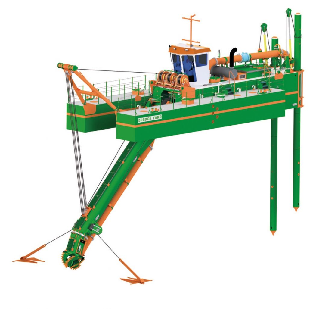 cutter suction dredger CSD450 ISO VIEW