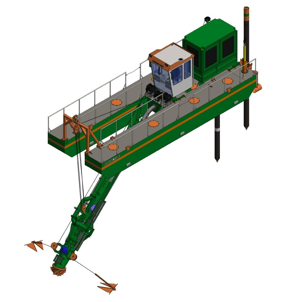 Cutter Dredger ECO 250 ISO view
