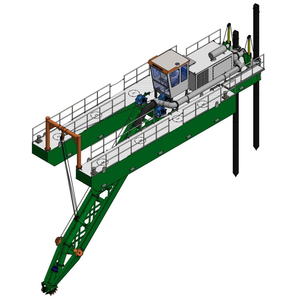Cutter Dredger ECO 300 ISO View