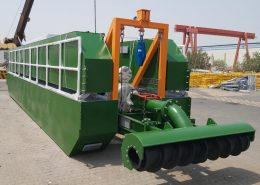 auger dredger foldable for transport