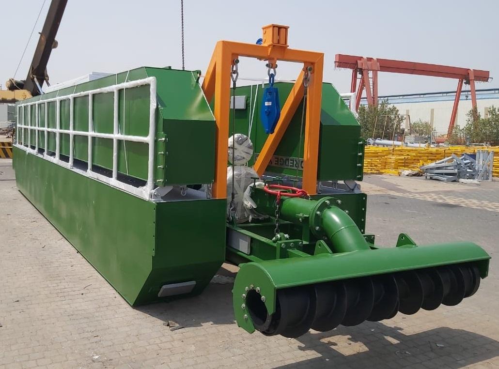 auger dredger foldable for transport