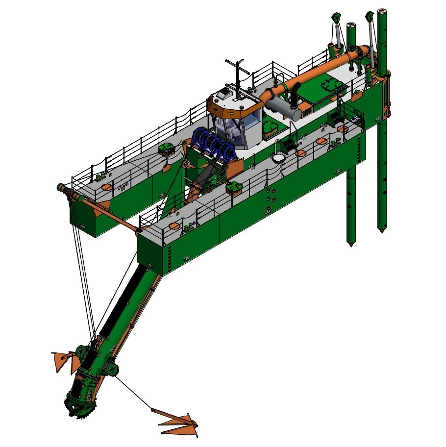 Cutter Suction Dredge 450 dismountable