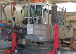 dredger at fabrication