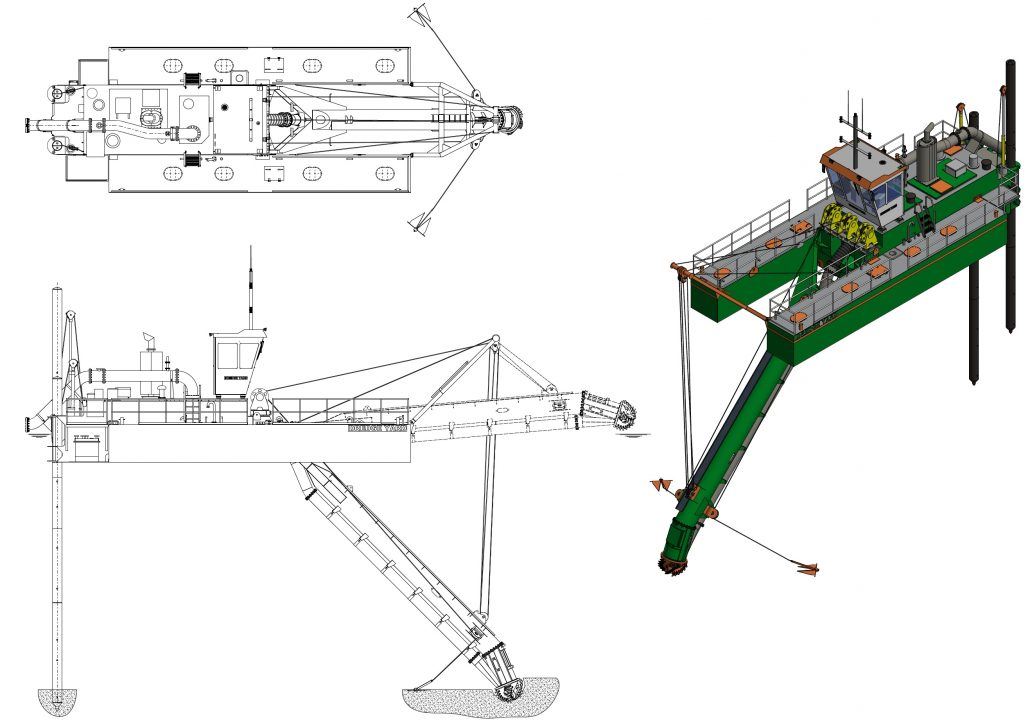 CSD 400 dredger